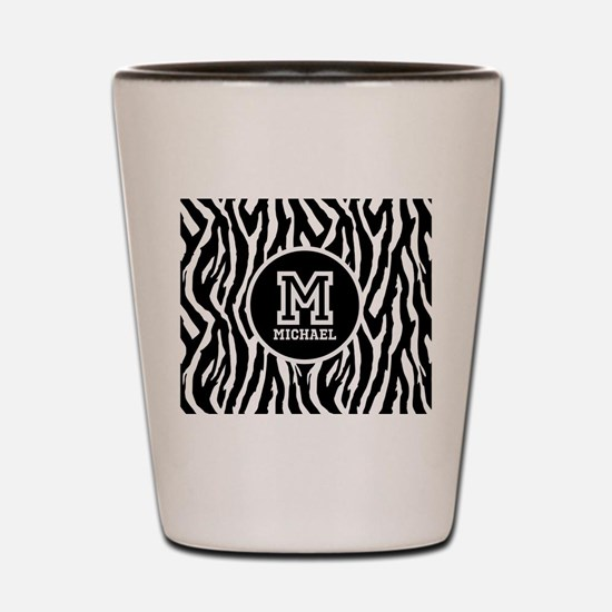 Zebra Animal Print Personalized Monogram Shot Glas