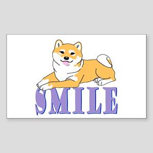 Shiba Smile Rectangle Sticker