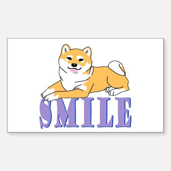 Shiba Smile Rectangle Decal
