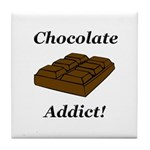 Chocolate Addict Tile Coaster