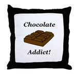 Chocolate Addict Throw Pillow