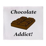 Chocolate Addict Throw Blanket
