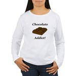 Chocolate Addict Women's Long Sleeve T-Shirt