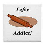 Lefse Addict Tile Coaster
