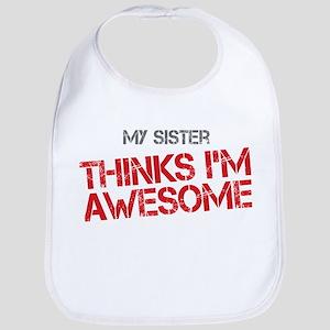 Sister Awesome Bib