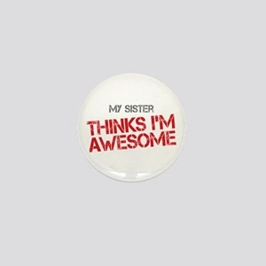 Sister Awesome Mini Button