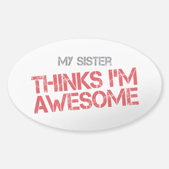 Sister Awesome Sticker (Oval)