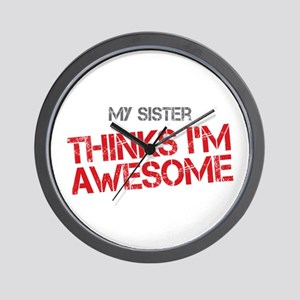 Sister Awesome Wall Clock