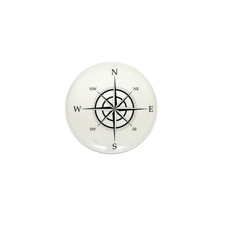 Compass Rose Mini Button (10 pack)