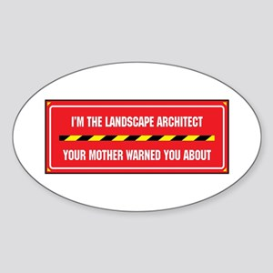 I'm the Landscaper Oval Sticker