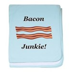 Bacon Junkie baby blanket