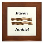 Bacon Junkie Framed Tile