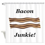 Bacon Junkie Shower Curtain