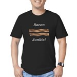 Bacon Junkie Men's Fitted T-Shirt (dark)