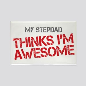 Stepdad Awesome Rectangle Magnet