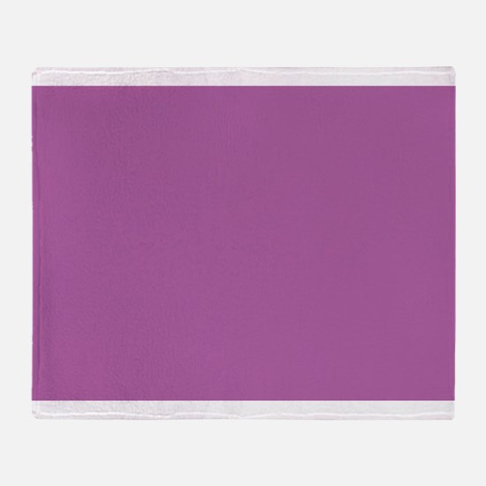Radiant Orchid 2014 color Throw Blanket
