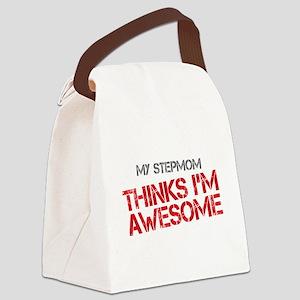Stepmom Awesome Canvas Lunch Bag