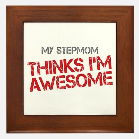 Stepmom Awesome Framed Tile