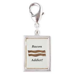 Bacon Addict Silver Portrait Charm