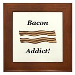 Bacon Addict Framed Tile