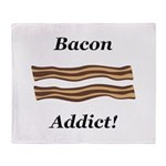Bacon Addict Throw Blanket