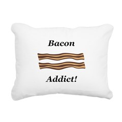 Bacon Addict Rectangular Canvas Pillow