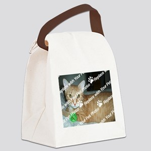 CUSTOMIZE With Your Pet Photo Canvas Lunch Bag