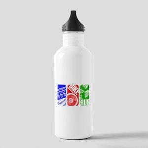 Triathlon TRI Swim Bike Run 3D Water Bottle