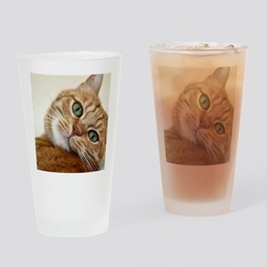 Sweet Cat Drinking Glass