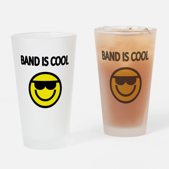 BAND IS COOL. With smiley face wearing sunglasses