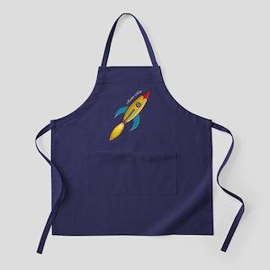 Rocket Man Rocket Ship Apron (dark)