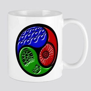 Triathlon TRI Swim Bike Run 3D Mugs