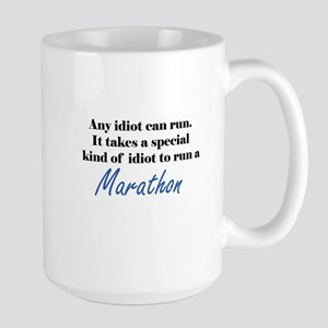 Idiot to run marathon Mugs