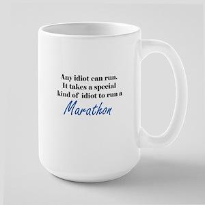 Idiot to run marathon Mugs