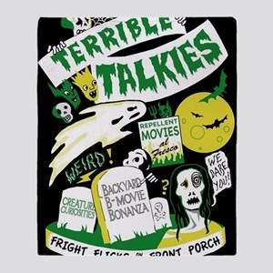 Terrible Talkies Green and Yellow Throw Blanket