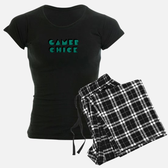 Gamer Chick Teal Pajamas