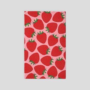Strawberries, 3'X5' Area Rug