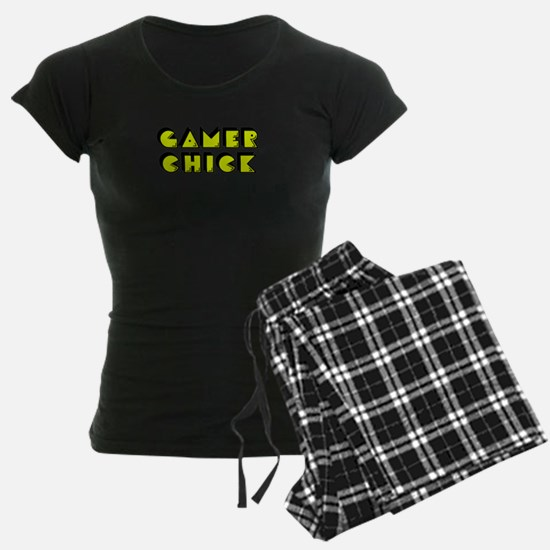 Gamer Chick Yellow Pajamas