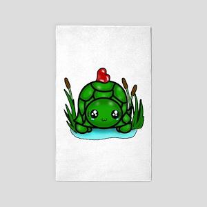 Tiny Turtle Heart 3'x5' Area Rug
