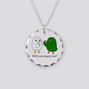 Will You Marry Me? Necklace Circle Charm
