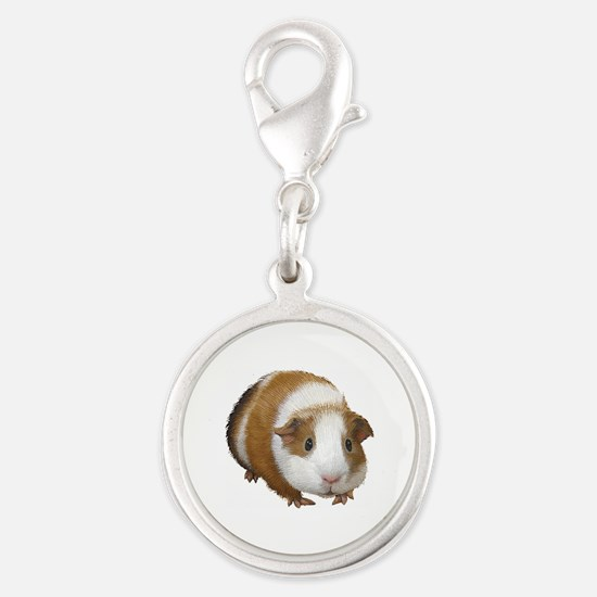 Guinea Pig Silver Round Charm