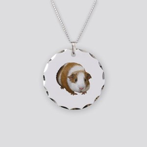 Guinea Pig Necklace Circle Charm