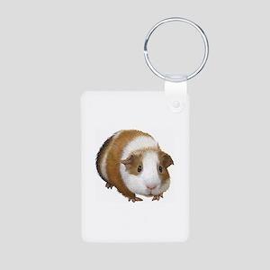 Guinea Pig Aluminum Photo Keychain