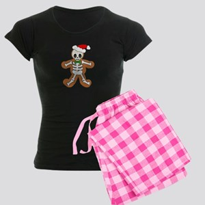 Cute Gingerbread Skeleton Man Women's Dark Pajamas