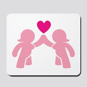 Eve and Eve ladies in Love Mousepad