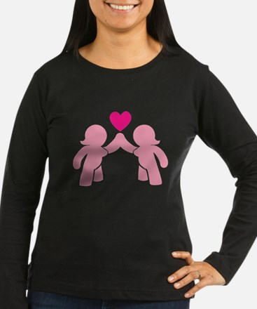 Eve and Eve ladies in Love Long Sleeve T-Shirt