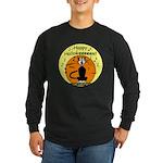Halloween Black Cat Long Sleeve Dark T-Shirt