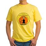 Halloween Black Cat Yellow T-Shirt