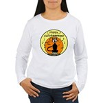 Halloween Black Cat Women's Long Sleeve T-Shirt