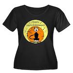 Halloween Black Cat Women's Plus Size Scoop Neck D